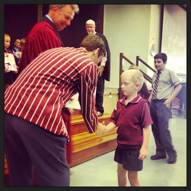 Ben's IGS Welcome Assembly - Prep 2013 - growing up so FAST!!
