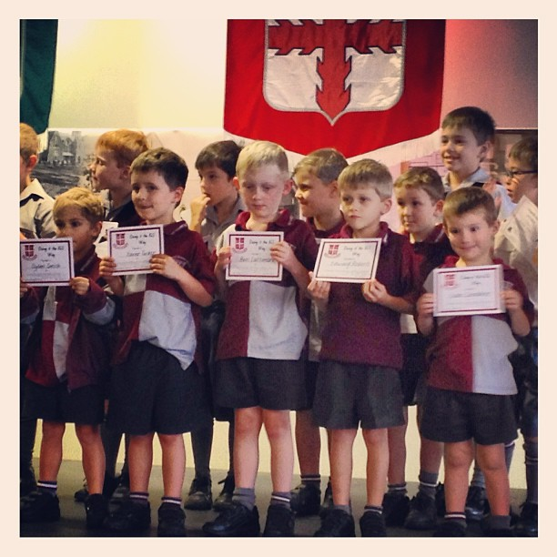 The gorgeous gents with their awards..... Well done Preps!