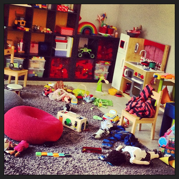A toy explosion at Aunty Claire's....sorry xoxo