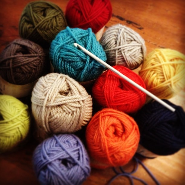 All set for my beginners crocheting workshop. I couldn't decide on what colour yarn..... I bought them all!!