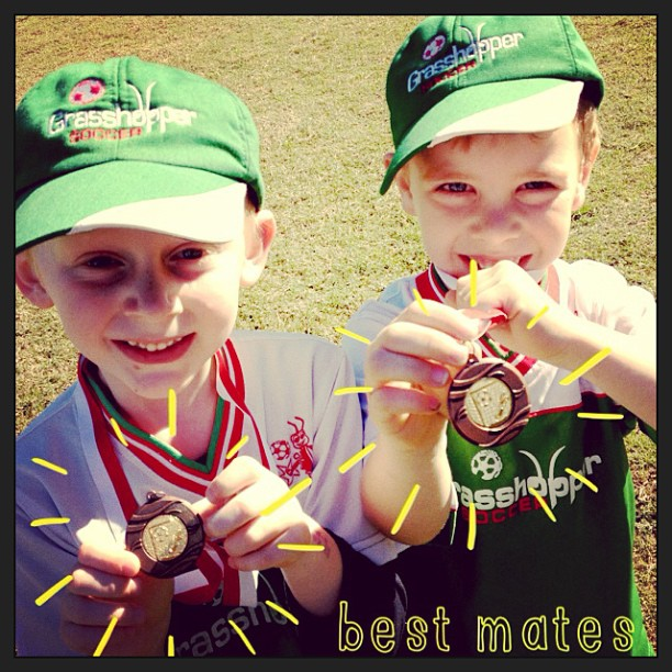Medal Day = HAPPY BOYS!!