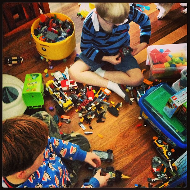 Play dates and Lego