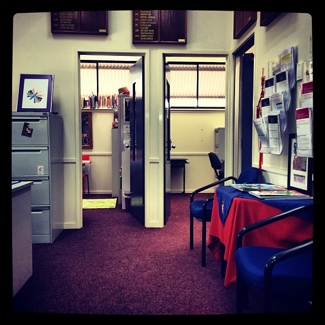 Waiting in the Principals office. I feel nervous !!!