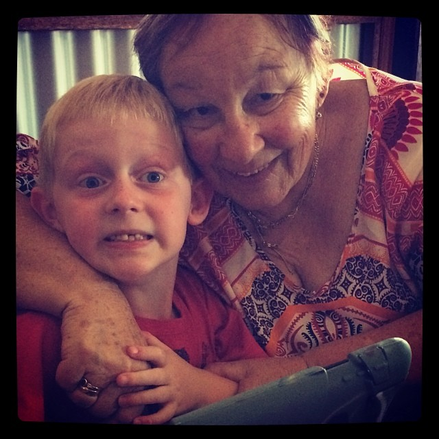 Ben and Nanny. Ben is very photogenic x