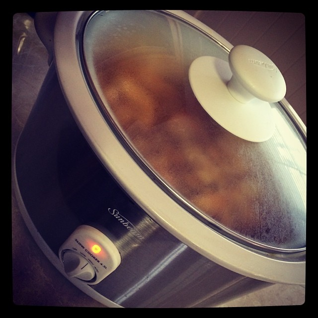 Oh slow cooker why have you been in the cupboard? Dinner prepared in minutes xxx