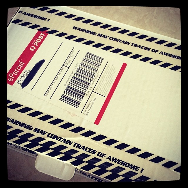 Happy delivery! Read the tape around the parcel!