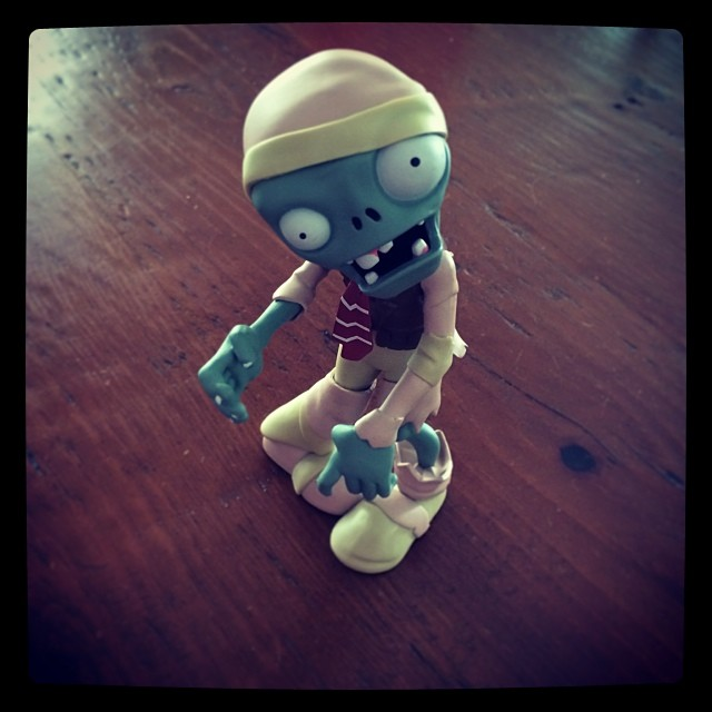 This zombie cracks me up! His head and arms pop off too. BOYS!!