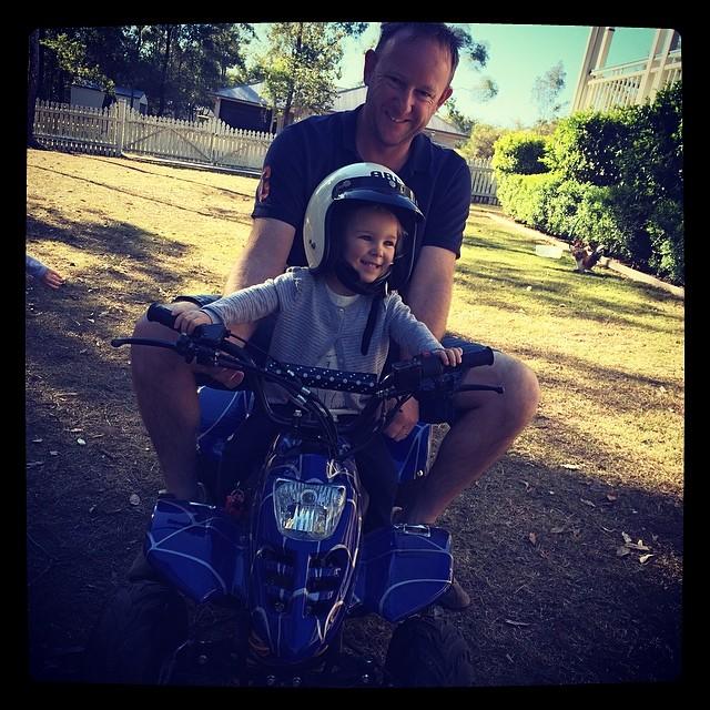 Gracie the biker girl!