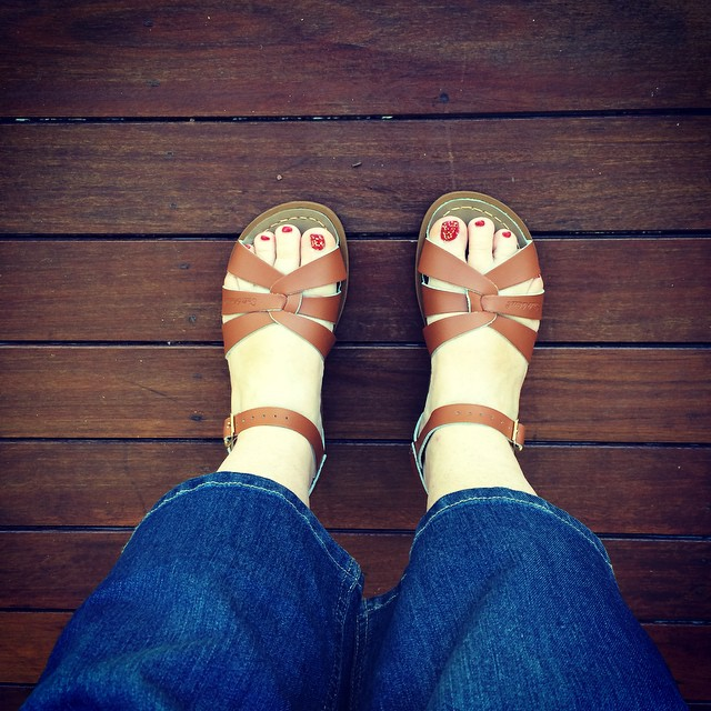 It's Spring....the sandals are on!