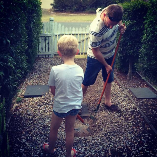 Putting my boys to work x