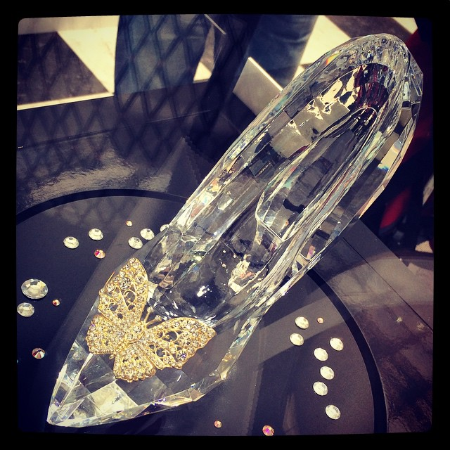 The Real Disney Cinderella Glass Slipper x
