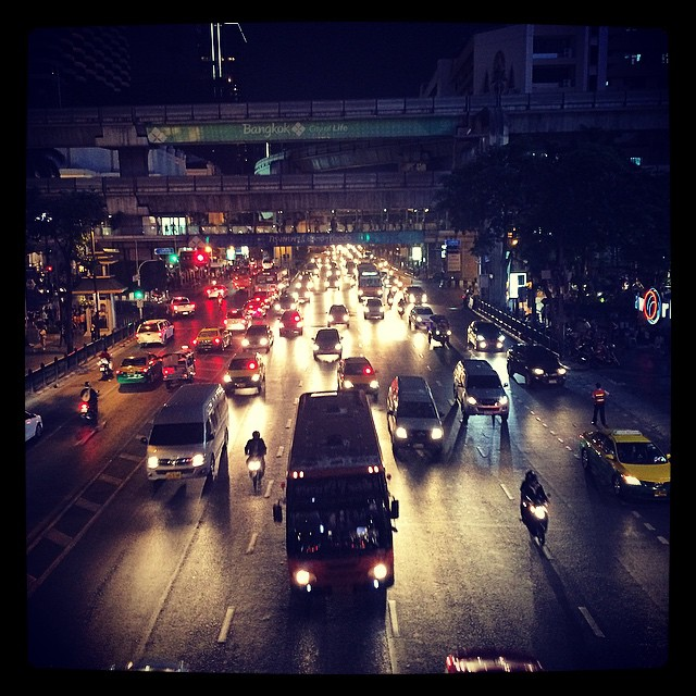 It's quicker to walk then jump in a taxi. Crazy traffic!!