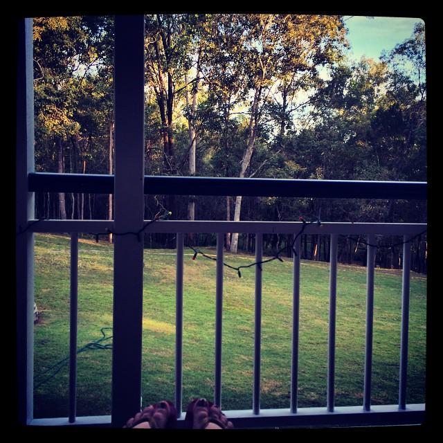 Bye backyard .....see you in a bit x