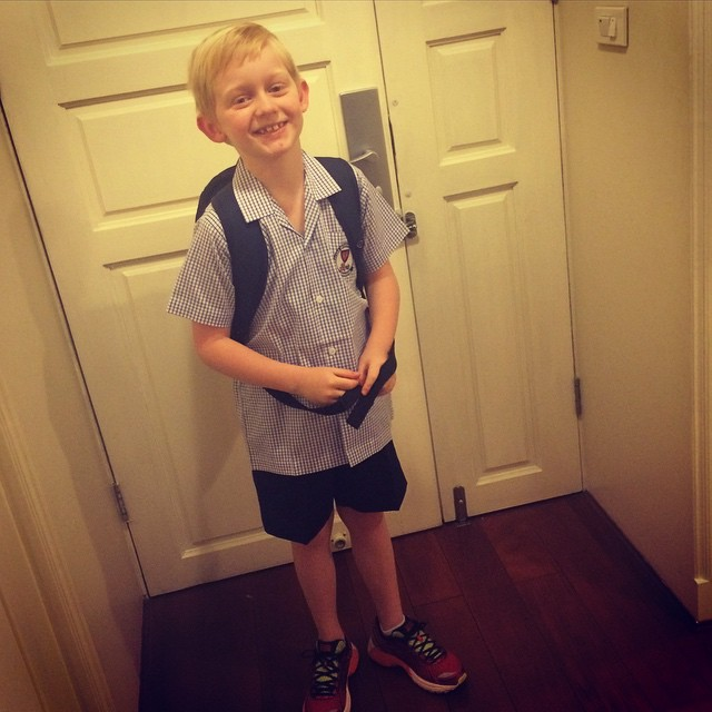 First day of school and first day on the school bus in Thailand for this little guy.  Nervous mumxxx