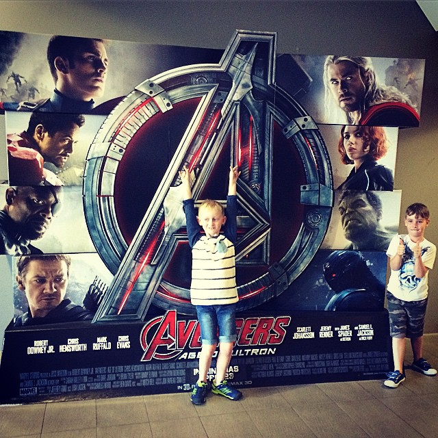 Boys and their Superheroes .......I have a bit of a thing for Thor though !!!!
