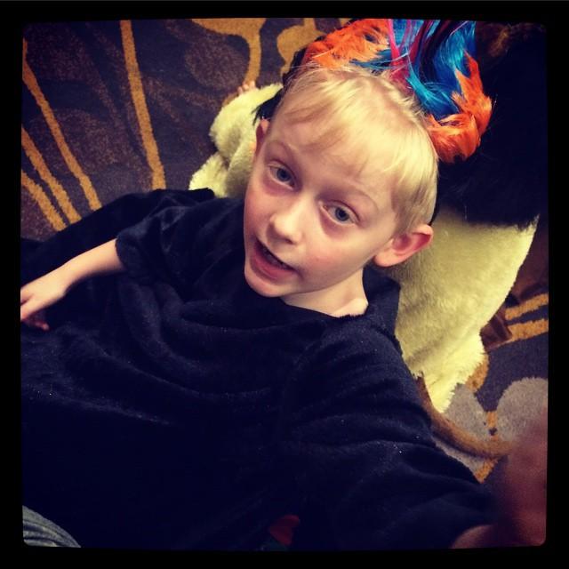 Ben in his Zazu costume