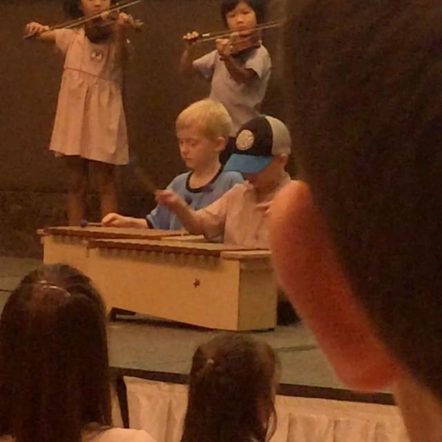 School concert .....Three Blind Mice