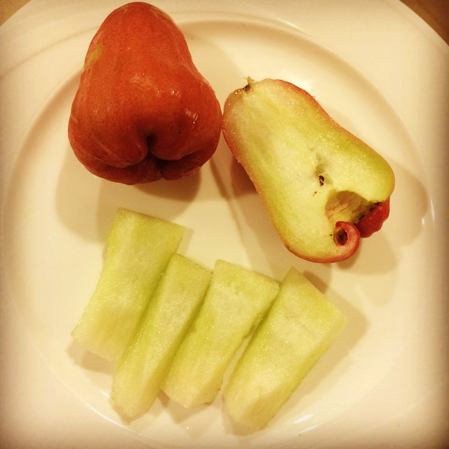 Tonight's dessert is a Red Roseapple