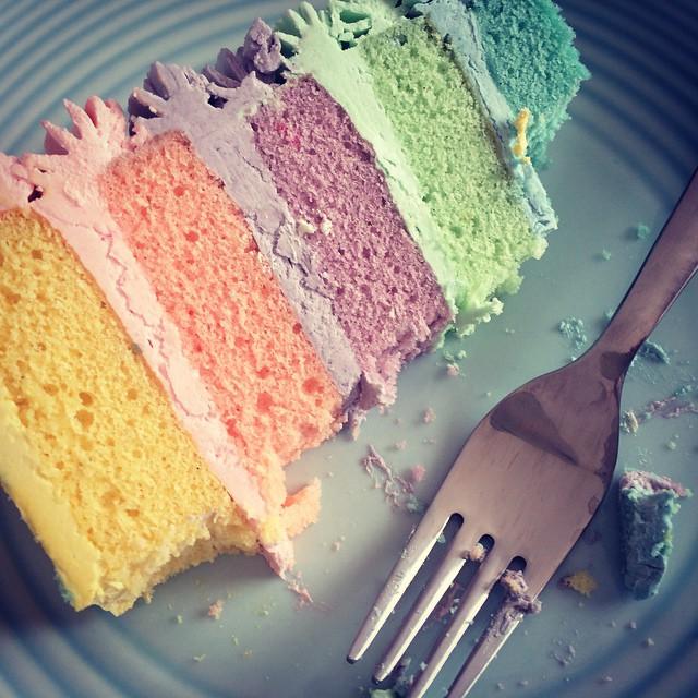 Shhh don't tell. Birthday cake for breakfast x