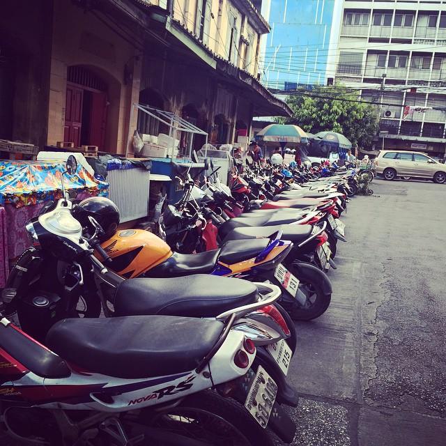 Everyone has a motorbike!