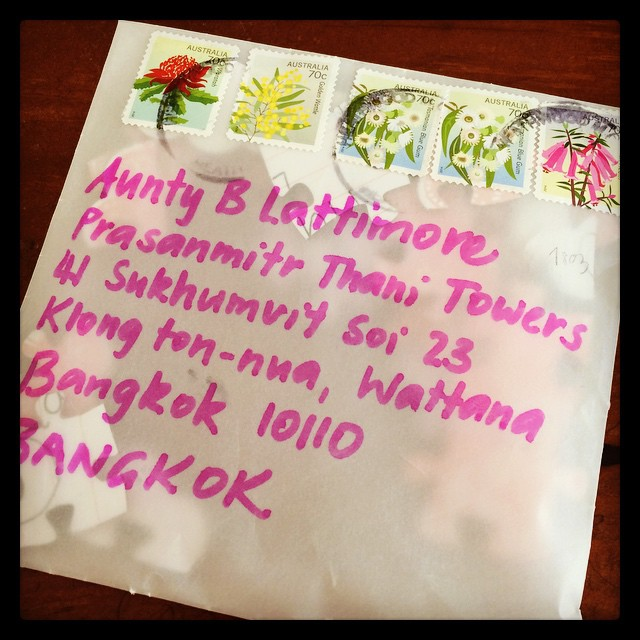 My first mail in Thailand ️️️️