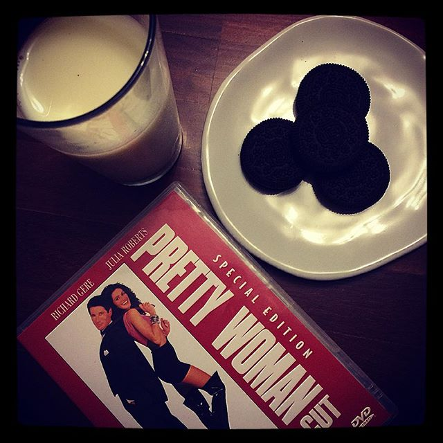It's a milk, cookies and girlie movie kinda night x