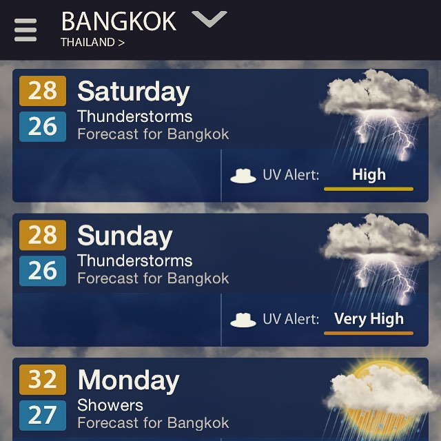 Oh my goodness!!! It's jumper weather here in Bangkok tomorrow😛 I'm spending the day outside!!!!!