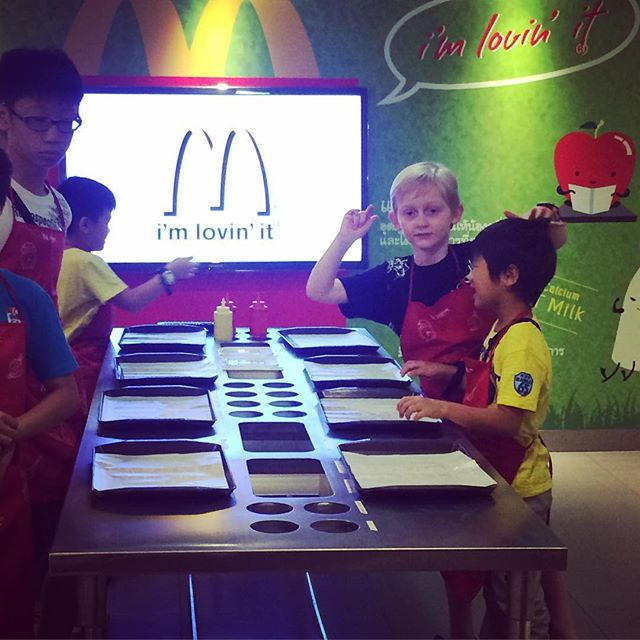 Making McDonald's burgers