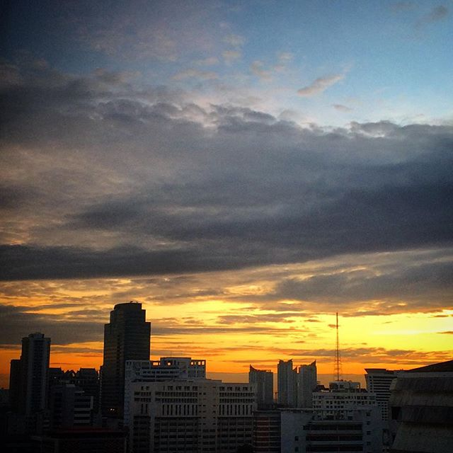Bangkok - sunrise through my window #myskyart