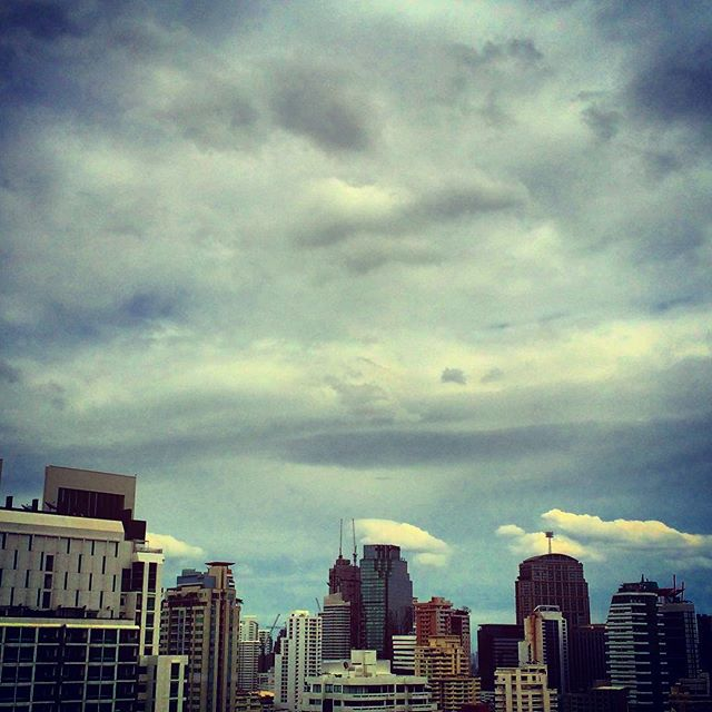 Bangkok sky from my lounge room window #myskyart