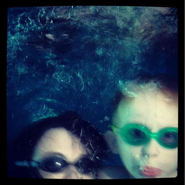 Underwater selfie with my little guy