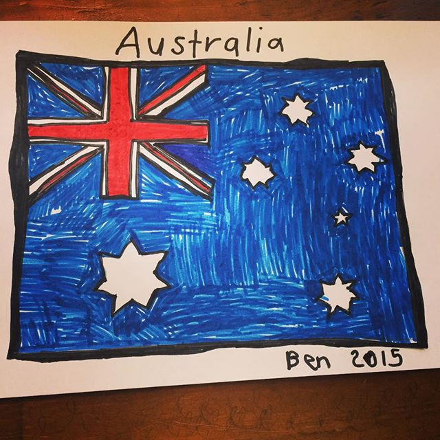Ben wants to wear an Australian shirt for International day at school. So we are off to get his picture printed on a shirt  tomorrow.