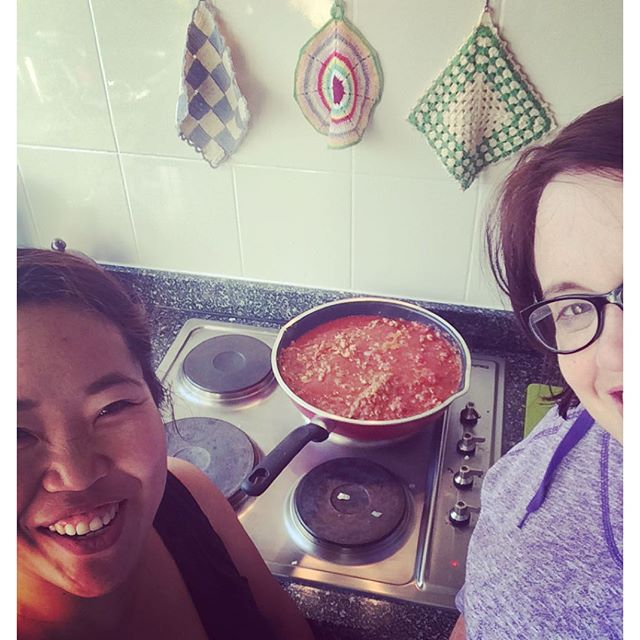 Our wonderful Kanchi and I cooked up a storm in the kitchen this afternoon xx