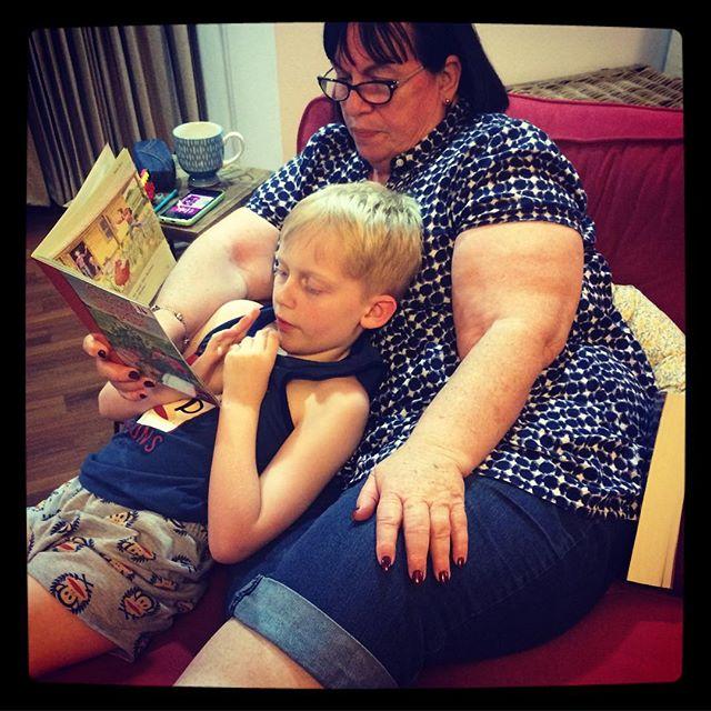 Grandma is visiting ️