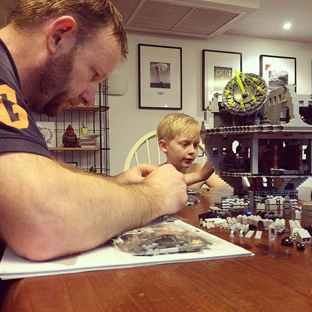 Building Lego at home with Dad is the best medicine EVER!