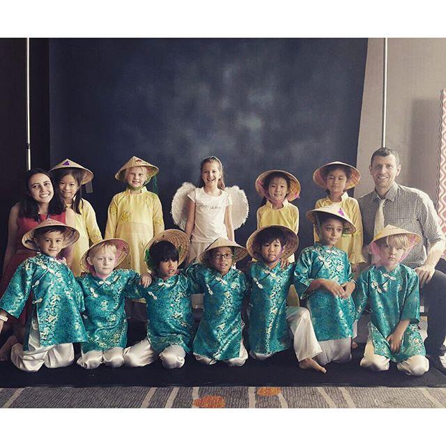 Ben's class and teachers at the school concert #AISB #Australianinternationalschoolbangkok