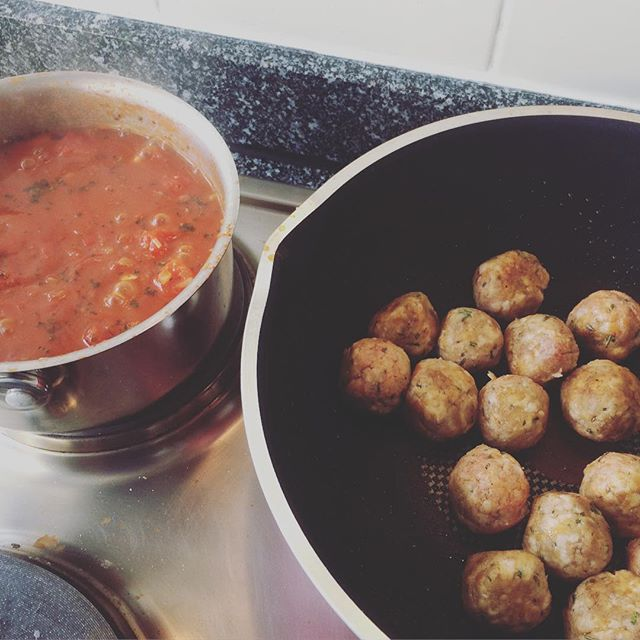 "Ben walks into the kitchen ""I can smell Jamie Oliver's meat balls""I haven't made them  for 6 months but they always taste good. Comfort food from home xx"
