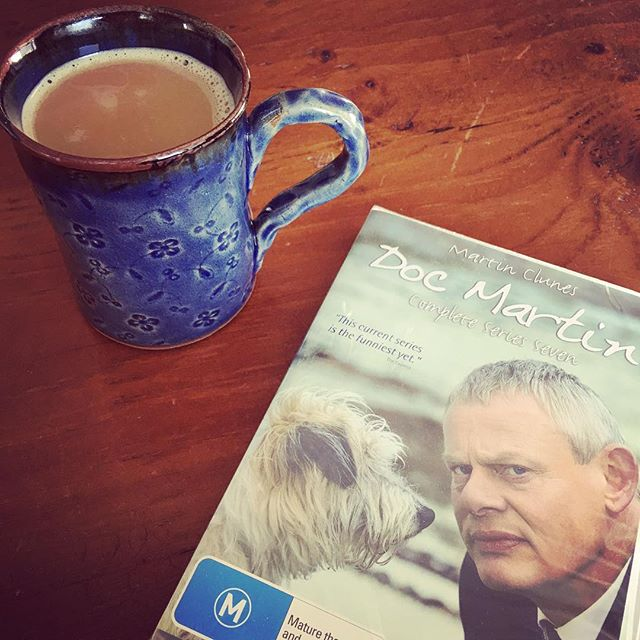 Two surprises in the mail in one day!!! I really do have a GREAT Mum and Dad. My favorite (pretend) coffee and the latest season of Doc Martin .  I LOVE GETTING MAIL!! THANKS ️ @kaytee47 @chipss69