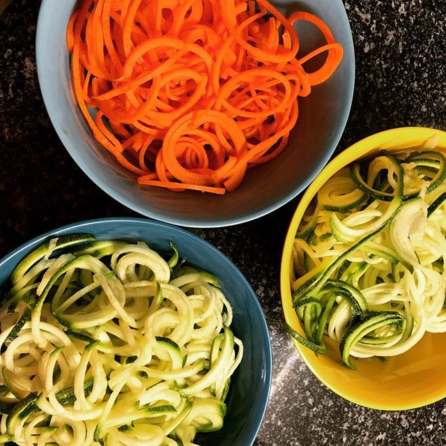 Spiralised vegetables and bolognese for dinner.....yummo