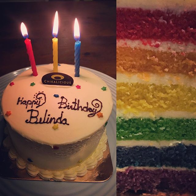 Rainbow Cake is my favorite ️