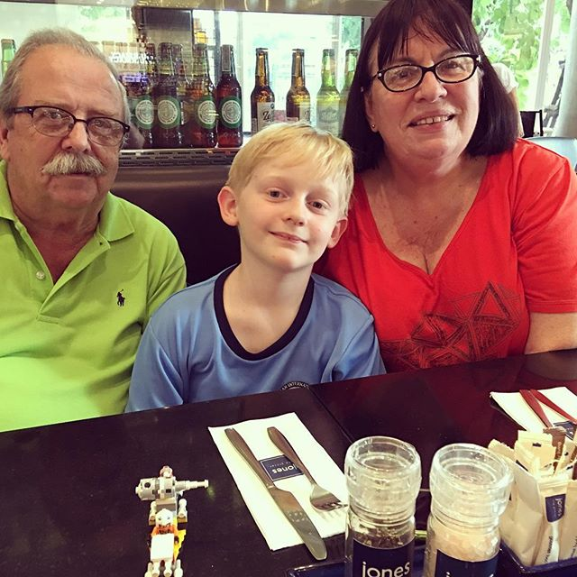 Out to dinner with Grandma and Grandad ️