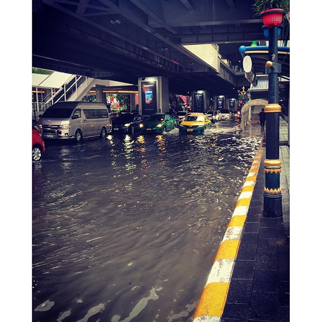 Swimming anyone? Just a little rain in Bangkok today.