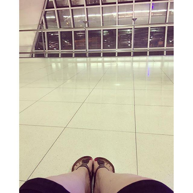 No seats at the airport