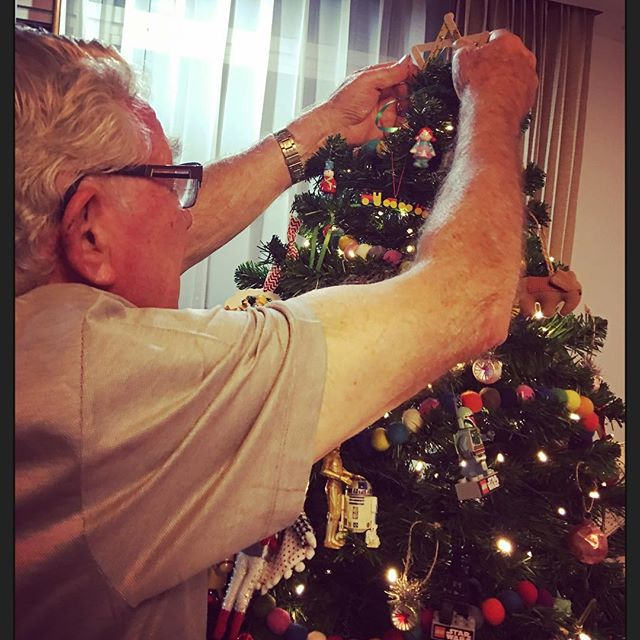 Grandad  put the star on top ️