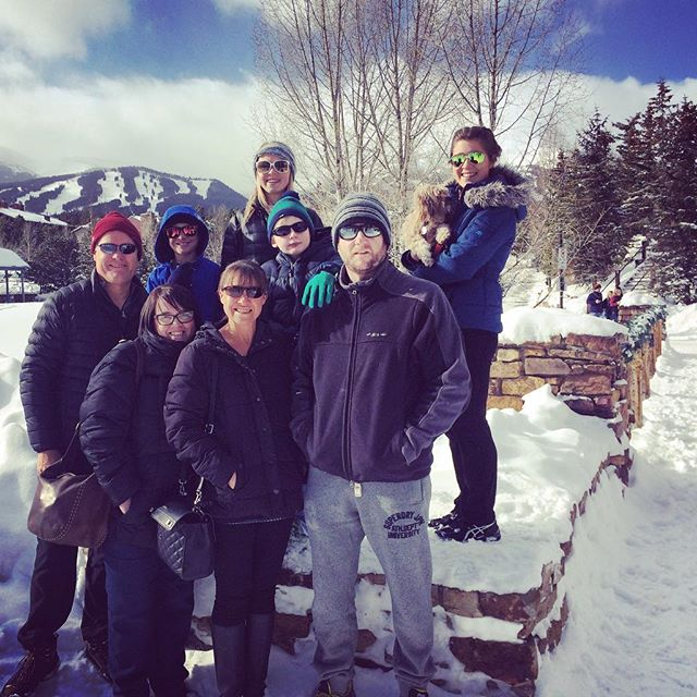 Breckinridge with most of The Dwyer Family. Thank you for an awesome few days in the mountains xx