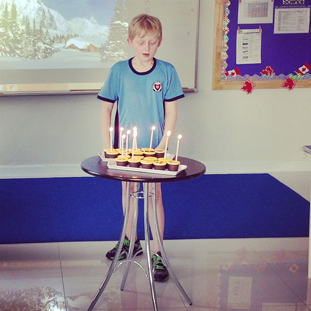 Ben's birthday celebrations at school with his class and wonderful teachers ️