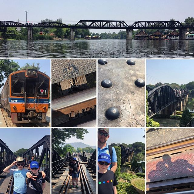 Visiting the Bridge on the River Kwai