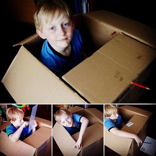 Miss April Ben's Teacher/Tutor carried this box from school to our house today for Ben. He spent his tutoring session today doing spelling and times tables in it. She always knows how to get the very best from him. Miss April Rocks. Best Teacher EVER!
