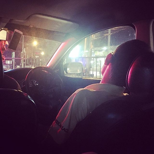 Oh Taxi Drivers in Bangkok!  Our driver tonight is catching some zzz's 😴 at the red lights. I'm probably going to have to poke him to wake up .