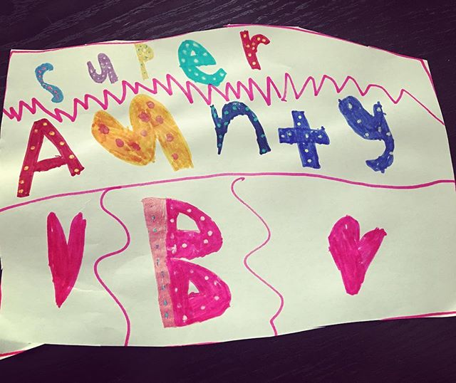 There is nothing that fills my heart more than a love note from a niece or nephew. Love you EVIE xxxx